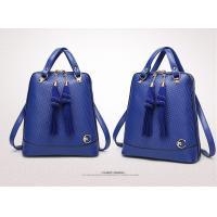 Cow Leather Stylish Womens Backpacks , Clear Texture School Bags For College Students Manufactures