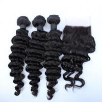 Malaysian Deep Wave Closure Malaysian Curly Hair Virgin Hair Bundles With Lace Closure Manufactures