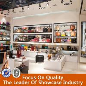 Retail store handbag glass display cabinet Manufactures