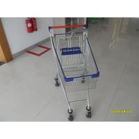 80 L Steel Supermarket Shopping Carts With Blue Plastic Parts And Safety Babyseat Manufactures