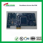 Blue Multilayer PCB Board 6l fr4 1.6MM LF HASL + GOLD FINGER Manufactures