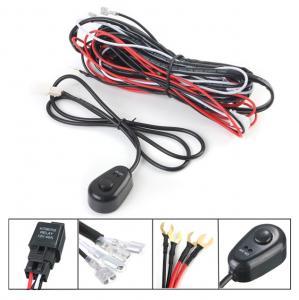 12V 2.5m LED Light Bar Wiring Harness Kit For Car Black , Red Color Manufactures