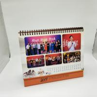 Paper Personalised Desk Calendar / Logo Printing Stand Up Desk Calendar Manufactures