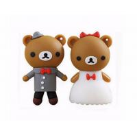 cartoon bear pendrive bride groom pen drive 4gb usb flash drive  memory stick wedding gift Manufactures
