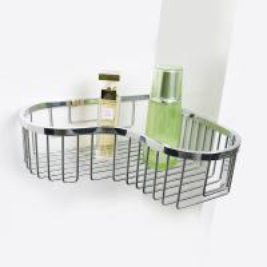 Quality Bathroom Accessory Corner Basket Shelf Stainless Steel Easy Installation for sale