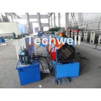 Metal Stud And Track Roll Forming Machine , Sheet Metal Roll Former For Roof Truss Manufactures