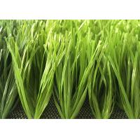 50mm Natural Looking Soccer Artificial Grass Spined Design Excellent Standing Manufactures