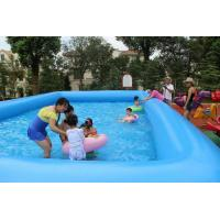 0.9mm Inflatable Swimming Pool With Blue for Courtyard / Amusement Park Manufactures