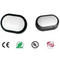 Aluminium Oval Shape Black Housing Outside Bulkhead Lights 280mm Impact Resistance Manufactures