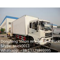 dongfeng tianjin 4*2 LHD15ton cold room truck for sale, best price 190hp diesel 15tons refrigerated van truck for sale Manufactures