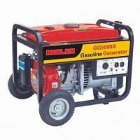 5kW Portable Gasoline Generator with Low-noise and 50Hz AC Frequency