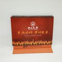4 Color Printing Custom Desk Calendar For Business Gift Customized Size Manufactures