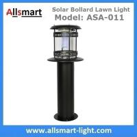 Quality 60cm 24Inch Height Black Sensor Westinghouse Solar Bollard Lawn Light Stainless for sale
