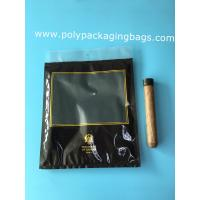 Custom LOGO fashion cigarette zipper lock moisturizing fresh plastic bag with transparent windows Manufactures