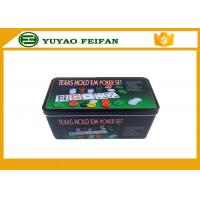 4g Plastic Poker Chips Sets Professional Poker Set Square Tin Box Packaging Manufactures