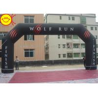 Angle Custom Black inflatable entrance arch Permanent Banner For Events Manufactures