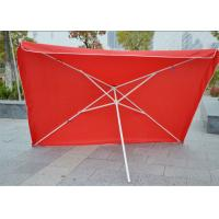 Commercial Square Outdoor Umbrella Parasol , 2.7 M Garden Parasol With Logo Print Manufactures