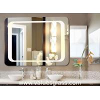 Wall Mounted Defogging LED Bathroom Mirrors 3-6mm Thickness With Touch Button Manufactures
