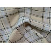 Comfortable 100 Polyester Fabric / Yarn Dyed Plaid Fabric For Garments Manufactures