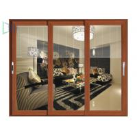 Quality Europe Fashion Aluminium Sliding Doors Waterproof With Tempered Glass for sale
