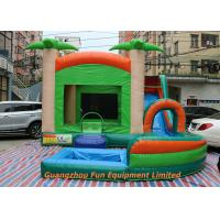 Red Commercial PVC Tarpaulin Inflatable Water Slide With Pool Size 7 * 5m Manufactures