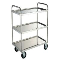 Commercial Restaurant 0.8mm Silver Stainless Steel Cookwares / Trolley 530x325mm Manufactures