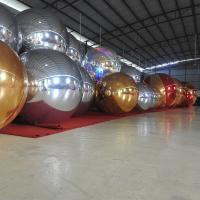 1.5m Sliver Inflatable Mirror Ball / Custom Inflatable Advertising Air Balloons Manufactures