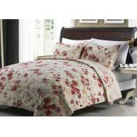 White Quilted Bedspreads And Coverlets 3pcs Printed Machine Quilting Manufactures