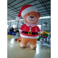 Eight Feet Stitching Oxford Custom Inflatable Products Inflatable Brown Bear With Led Color Light Manufactures