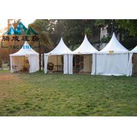 Aluminum Frame Pagoda Canopy Tent 5x5M 6x6M With Double PVC Coated Polyester Textile Manufactures