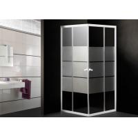 Toughened Glass Corner Shower Enclosure Small Bathroom Stripes Pattern 0.092CBM Manufactures