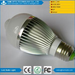 PIR E27 5W LED Bulb Human Infrared Auto Motion Sensor Light White Lamp AC85-265V Manufactures