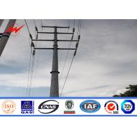 China Transmission Line Hot Rolled Coil Steel Power Pole 33kv 10m Electric Utility Poles on sale