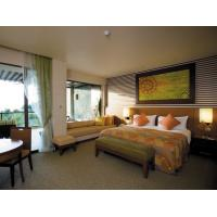 China Modern Fabric Bedroom High End Hotel Furniture With Ebnoy Wood Veneer Finish on sale