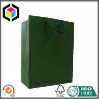 Metallic Paper Shopping Bag with Rope Handle; Custom Embossed Logo Paper Bag Manufactures