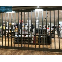 SGS 2200mm Length Foldable Glass Doors For Super Market Manufactures