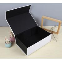 Black Luxury Paper Gift Box Custom Printed Stationery Boxes Manufactures