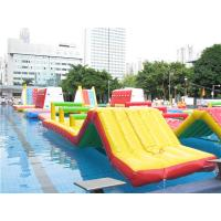 Quality Durable Red / Blue Inflatable Water Park 0.9mm PVC Tarpaulin For Entertainment for sale