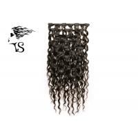 Kinky Curly Long Real Clip In Human Hair Extensions Black Color Natural Looking Manufactures