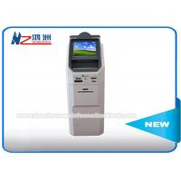 Floor Standing Multi Currency Coin Counting Kiosk With Cash Acceptor And Bank Card Reader Manufactures
