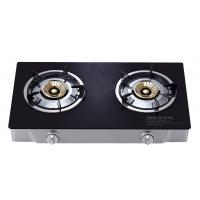 Quality Portable 2 Burner Table Top Gas Cooker , Two Burner Gas Stove With Glass Top for sale