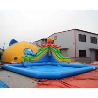 Quality Most Popular PVC Blow up kids mobile inflatable octopus water slide amusement for sale