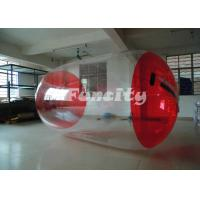 Red And Transparent Inflatable Water Roller Water Walking Roller Manufactures