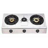 3 Burner Steel Panel Table Top Gas Stove With Round Enamel Pan Support Manufactures