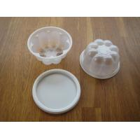 China 120ml Disposable Ice Cream Cups With Lid Plastic Octagon Bulb 4oz on sale