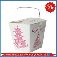 Custom Color Print Food Grade Paper Noodle Take Away Box with Handle Manufactures