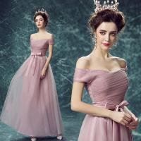 Pink Off The Shoulder Butterfly Sashes Crepe Gorgeous Evening Dress TSJY136 Manufactures