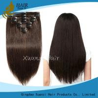 Buy cheap 100% Brazilian Remy Hair Silky Straight Wave Hair Clip 10
