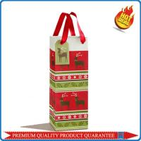 Custom Color Printing Paper Gift Bag for Wine Bottle Carrier with Paper Hangtag Manufactures