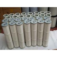 Buy cheap Pleated air inlet filter cartridge for cement silo bin roof dust collector from wholesalers